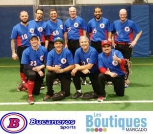 équipe de balle molle de Terrebonne commandité par les Boutiques MArcado et Bucaneros Sports