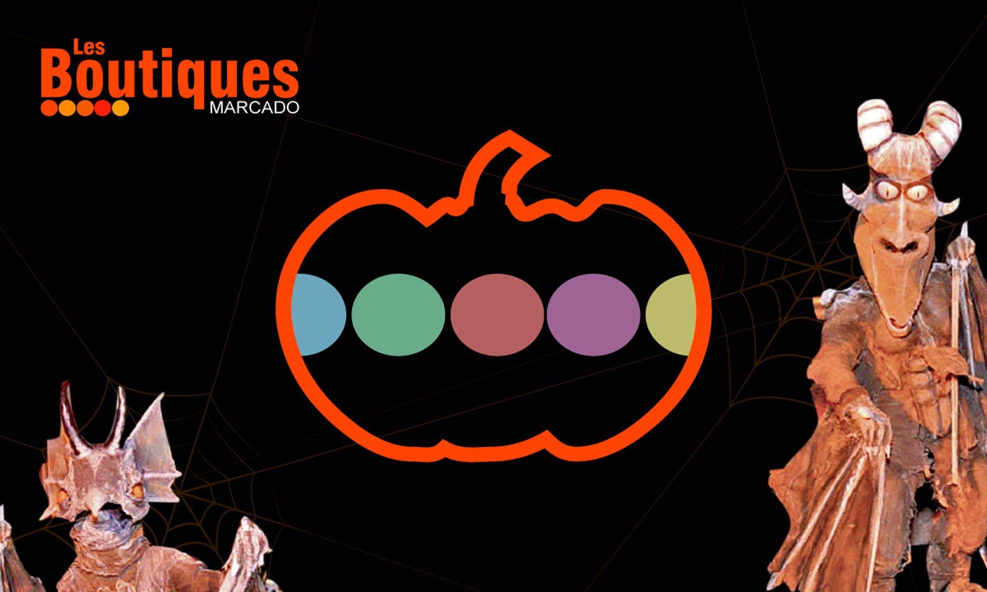 Fête d'Halloween aux Boutiques Marcado, Maquillage, concours et créatures fantastiques