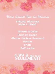 menu special fete des meres